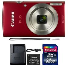 Canon IXUS 185 / ELPH 180 20MP Digital Camera Red and 24GB Memory Card