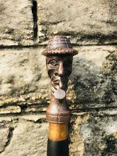 Victorian Men's Sherlock Holmes Hardwood Black Shaft Unique Walking Cane Stick
