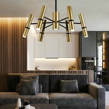 New ListingModern 7 Lights Cylinder Shape Chandelier Led Pendant Lamp Ceiling Fixtures Gold