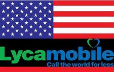 Lyca USA  Reise Sim Karte Amerika Prepaid 5 GB LTE  Telefonflat nach Deutschland