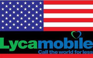 Lyca USA  Reise Sim Karte Amerika Prepaid 7 GB LTE  Telefonflat nach Deutschland