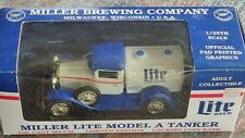 LIBERTY CLASSICS MILLER LITE MODEL A TANKER KEYED BANK 1:25 SCALE LIMITED ED