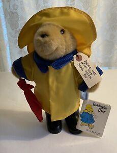 Eden Toys Paddington Bear in Yellow Rain Coat & Hat, Black Boots, Red Umbrella