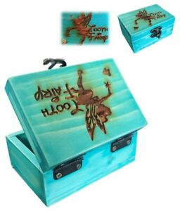 Tooth Fairy Box for Boys and Girls,Baby Teeth Fairy Holder,Wooden Kids Toothfair