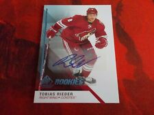 2014-15 SP Game Used ROOKIE Autograph Tobias Rieder #145 BLUE Parallel
