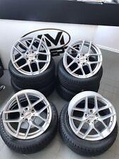 18 Zoll Borbet Y Felgen 5x100 et40 Silber für Audi A1 Seat Ibiza Cubra ST Toledo