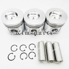 New 3 Sets Std Piston W Ring fit for John Deere 3015D, 790, 4300 Utility Tractor