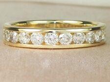 14k Yellow Gold Diamond-1.00 tcw Wedding Band Anniversary Ring-Size 8.25