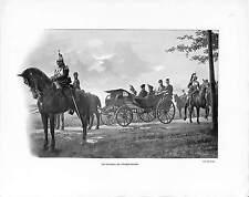 LANDAU IMPÉRATRICE FORT WITRY TSAR NICHOLAS II RUSSIE RUSSIA ANTIQUE PRINT 1901