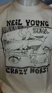 CRAZY HORSE - NEIL YOUNG  - 100% COTTON T-SHIRT - CREW NECK - ROCK CLASSIC