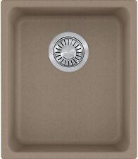 "Franke Kubus 15"" Granite Single Basin Undermount Kitchen Sink in Oyster"