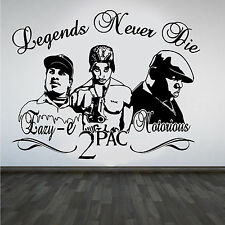 2Pac Tupac Eazy-E Notorious B.I.G Rappers Hip Hop Legends DIY Wall Art Sticker