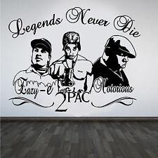 2Pac Tupac Eazy-E Notorious B.I.G. rappers Hip Hop Leyendas Hazlo tú mismo Pared Arte Pegatina