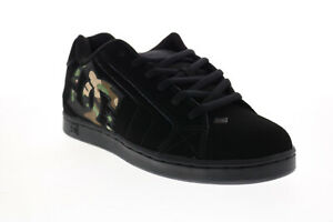 DC Net 302361 Mens Black Nubuck Lace Up Skate Inspired Sneakers Shoes 8