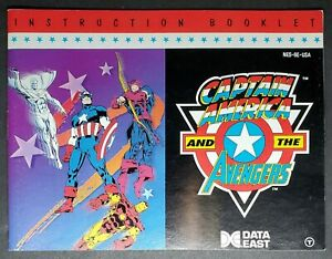 """NES MANUAL ONLY  :     TITLE   """" CAPTAIN AMERICA AND THE AVENGERS  """""""