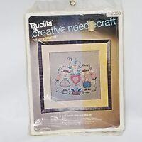Bucilla Creative Needlecraft Kit #2060 Hearts Delight Picture Wall Panel 18 x 18