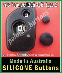 fits Peugeot 306 307 remote key fob - Silicone Repair BUTTONS (1 set)