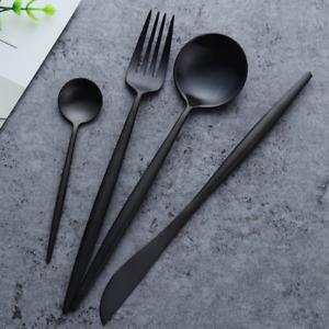Matte Black Cutlery Sets