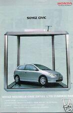 Publicité advertising 2002 Honda Nouveau Civic Diesel CTDI Common rail