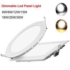 Dimmable Epistar Recessed LED Panel Light Ceiling Down Lights 9W 12W 15W 18W 30W
