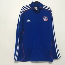 FC Dallas Adidas Soccer Blue Warm Up Presentation Full Zip Hoodie Jacket Sz XL