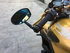 """7/8"""" 22mm Rétroviseurs Moto Universal Latéraux Miroirs Arrière Embout De Guidon"""