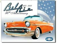 Chevy Bel Air Metal Tin Ad Sign Auto Parts Shop Picture Garage Cave Decor Gift