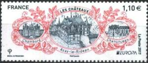 Mint stamp Europa CEPT Castles 2017 from  France  avdpz