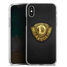 Apple iPhone X Silikon Hülle Case - Goldenes Logo Dynamo Dresden