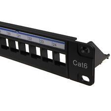 More details for 24 port patch panel load bar empty rack for panel mount modules with back bar