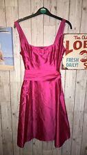 Coast Rose Chaud Robe de soirée, Sz 6, Prom, demoiselle d'honneur, Mariage, soie, écharpe