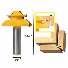 "Wood Cutter Tools Medium Lock Miter Router Bit - 45° - 3/4"" Stock - 1/2"" Shank"