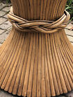 LG Bamboo Sheaf of Wheat Round Dining Table Hollywood Regency  Rattan McGuire