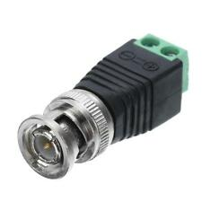 Male Coax CAT5 To Coaxial BNC Cable Connector adapter Camera Video CCTV Balun