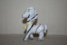 Vintage Made Japan Stripe Zebra Figurine Hand Paint White Porcelain Art Pottery