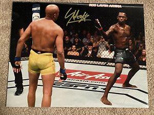 Israel Adesanya vs Anderson Silva Signed Autographed UFC 11x14 Photo 1