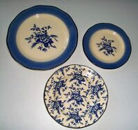 Wood & Sons Colonial Blue Dinner - Salad - Soup Bowl Set
