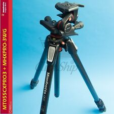 Manfrotto MT055CXPRO3 Carbon Fiber Tripod with MHXPRO-3WG Geared 3-Way Head Kit