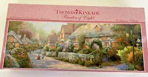 Thomas Kinkade  700 Piece Panoramic Puzzle  'Cobblestone Village New Sealed Box