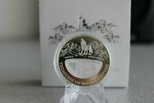 Treasures Mother Nature White Topaz Russia 1$ Fiji 2012 Silver Coin