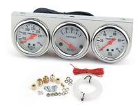 52mm 2'' 12V 3 in 1 Water Temp Oil Gauge Temperature Pressure Triple Meter W6 UK