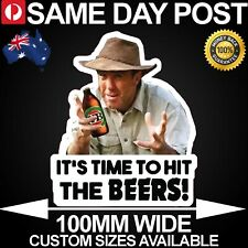 TIME TO HIT THE BEERS RUSSELL COIGHT  100mm Wide Vinyl Car Sticker Funny Meme