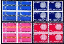 Netherlands 1971, 72 MNH 2v in Blk 4, Europa, CEPT