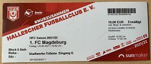 24.09.2021 Sammlerticket Hallescher FC - 1.FC Magdeburg 3.Liga Top Zustand