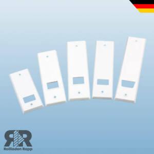 Blende Abdeckung für Gurtwickler Rollladen Abdeckplatte Verblendung Farbe weiß