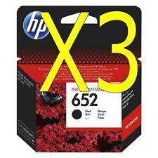 3X HP 652 black ink cartridge F6V25AE For Deskjet 3835,deskjet 4675 printers