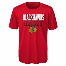 Outerstuff NHL Youth (8-20) Chicago Blackhawks Elite Dri-Tek Short Sleeve Tee