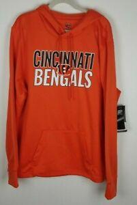 47 Brand NFL Apparel Sz. 2XL Cincinnati Bengals Orange Hooded Pocket Sweatshirt