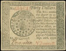 #CC-84 $40 Sep 26, 1778 Continental Currency, CU+ Condition! Sweet! garyposner