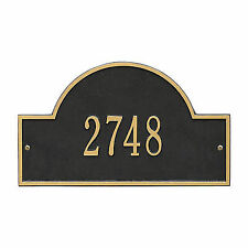 Arch Marker - Standard Wall - One Line- Black/Gold
